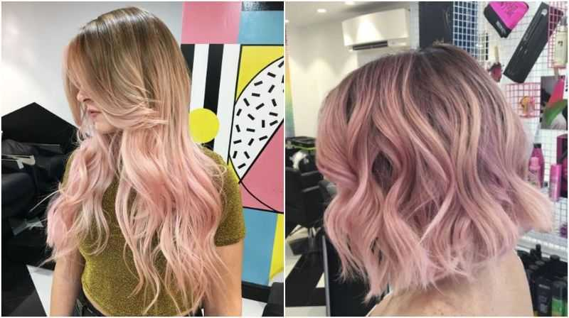 Can I Get Blush Pink Balayage