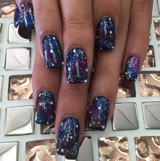 Unlike Some Of The More Out There Designs Bracelet Nails For Example Galaxy Are Not Just Gurus Instagram They Actualy Easy Enough