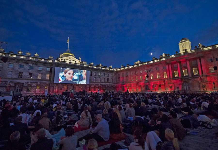 Outdoor cinema at Somerset House, London