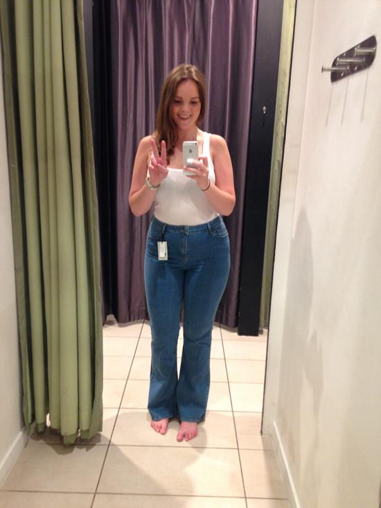 Very wide ass milf jeans style