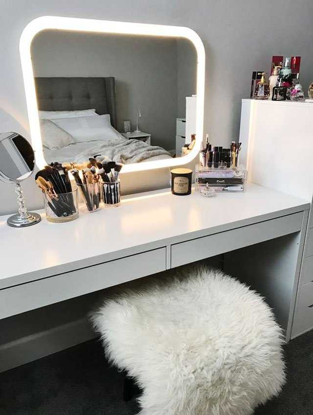 How To Set Up The Vanity Table Of Your Dreams Thanks To Pinterest