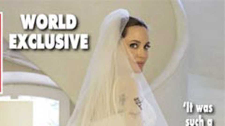 OMG. The First Pictures Of Angelina Jolie\'s Wedding Dress Are Here ...