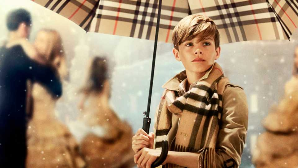 FIRST LOOK: Romeo Beckham Is Back For Burberry's Christmas Campaign
