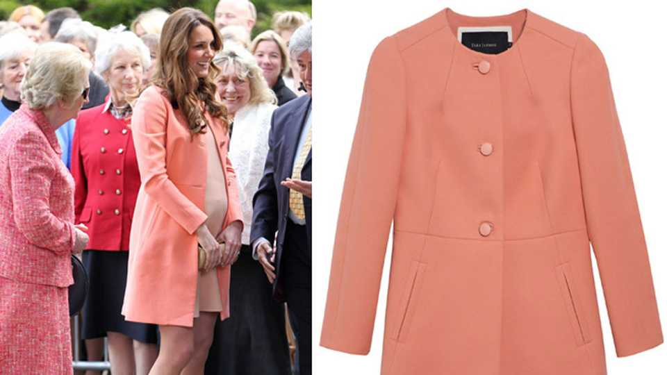 e62d85d342 Kate Middleton Wears A Tara Jarmon Coat And Matching Dress By Her Own  Dressmaker To Visit A Children        s Hospice In Hampshire