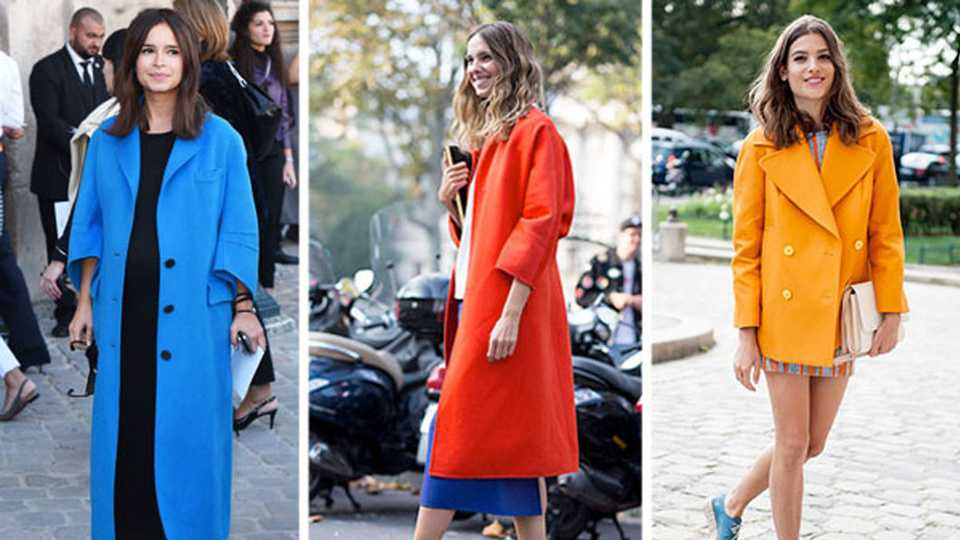 It's All About The Colour-Pop Coat On The Paris Fashion Week Streets