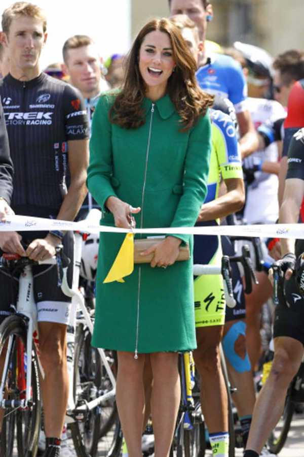 1 Kate Middleton style green coat