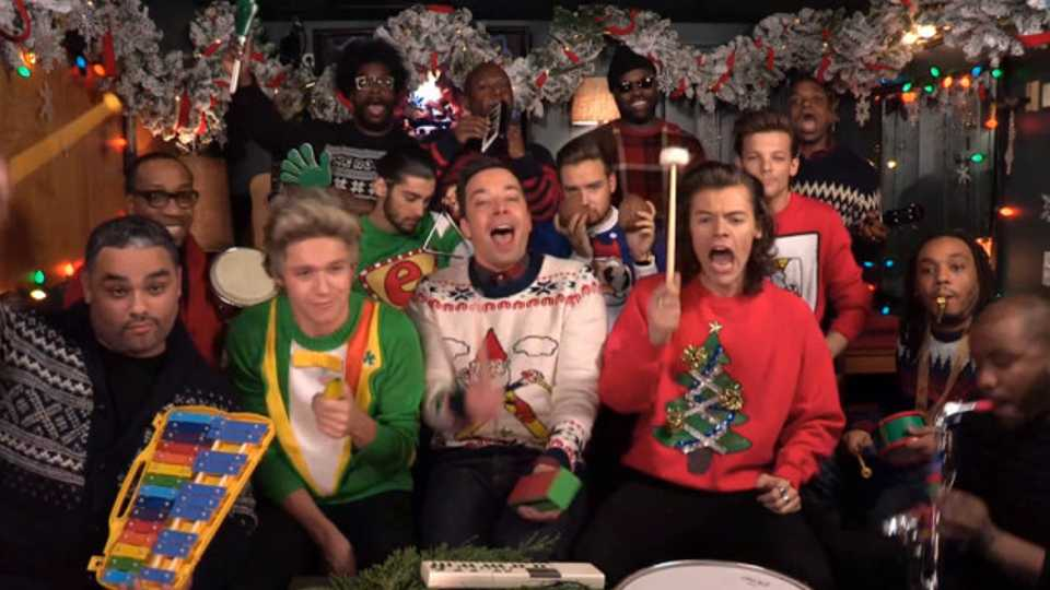 One Direction On Jimmy Fallon In Christmas Jumpers, We Just Fainted ...