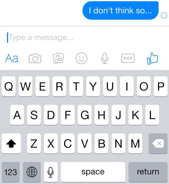 What does a grey check mark mean on messenger