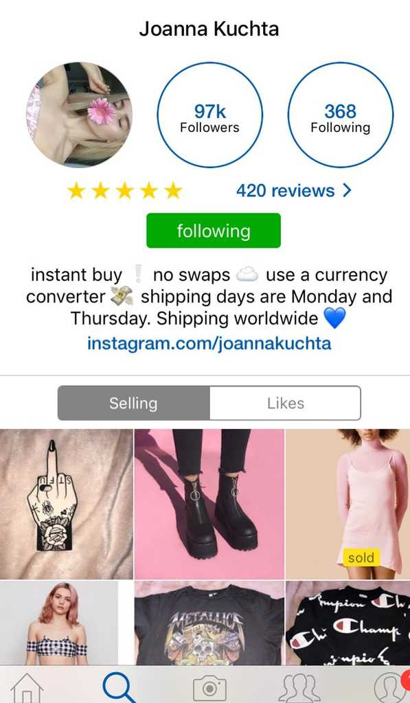 6e8866867e33 You Can Now Shop Your Favourite Celebs  Wardrobes On Depop