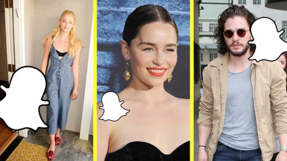 Where To Find The Game Of Thrones Cast On Snapchat And Instagram