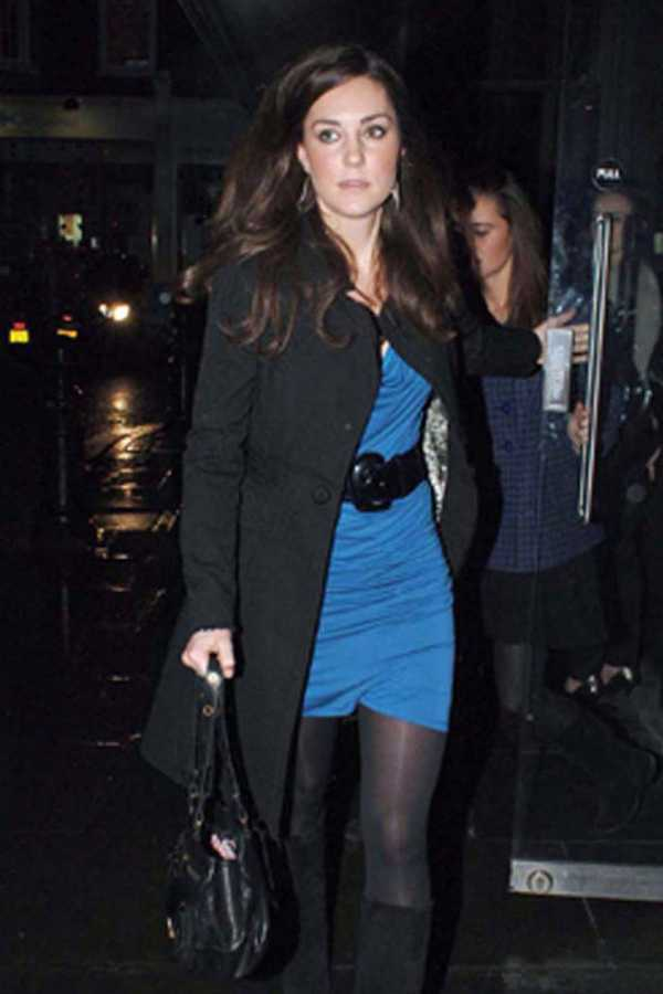 Kate Middleton leaving the Eight Over Eight Bar and Restaurant, Kings Road, London, 19 December 2008
