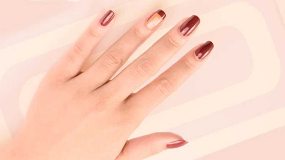 Heres How To Do Negative Space Nail Art Grazia