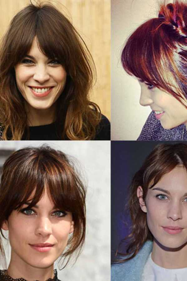 Alexa Chungs Best Ever Hair Moments Tousled Waves Blunt Bangs