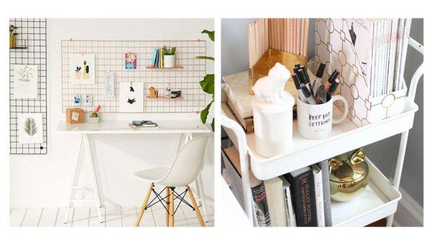 Decorate office space work Cute How To Decorate Your Home Desk Space So You Actually Want To Work In It Grazia Grazia Daily How To Decorate Your Home Desk Space So You Actually Want To Work In