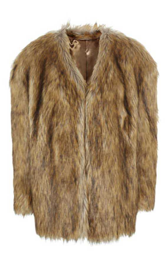 faux fur coat topshop