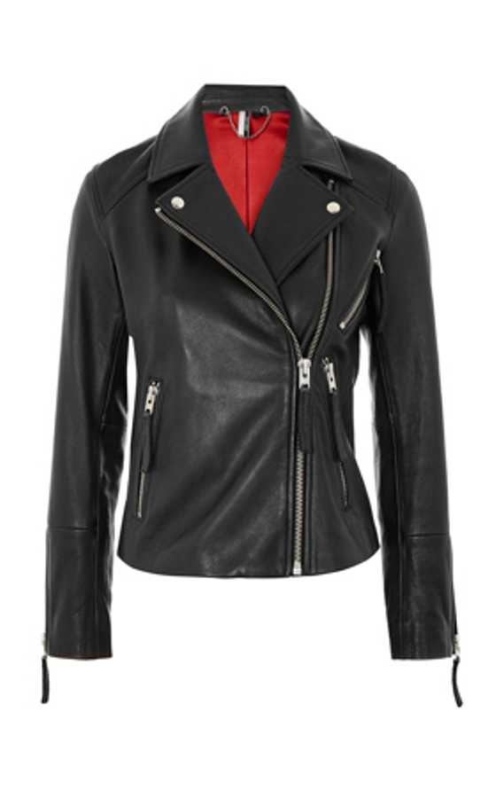 leather  biker jacket topshop