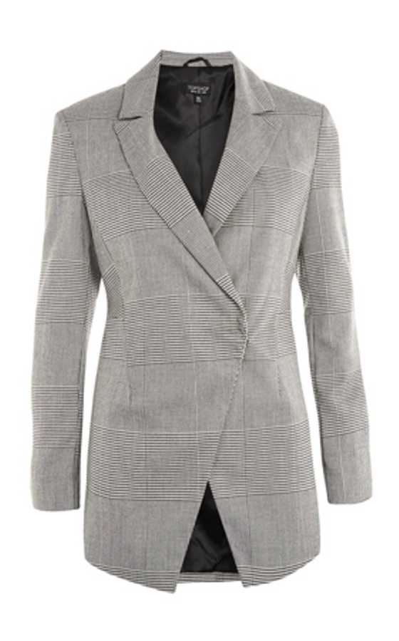 checked jacket topshop