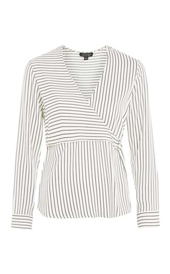 stripe wrap top topshop