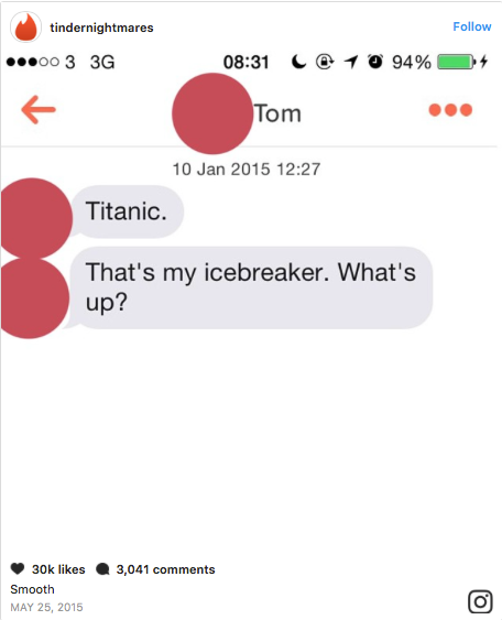 Opening line on a hookup site are mistaken