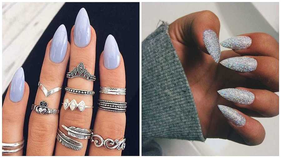 Nail Shape: Stiletto/Pointed - The 7 Different Nail Shapes: Find What Suits You Grazia