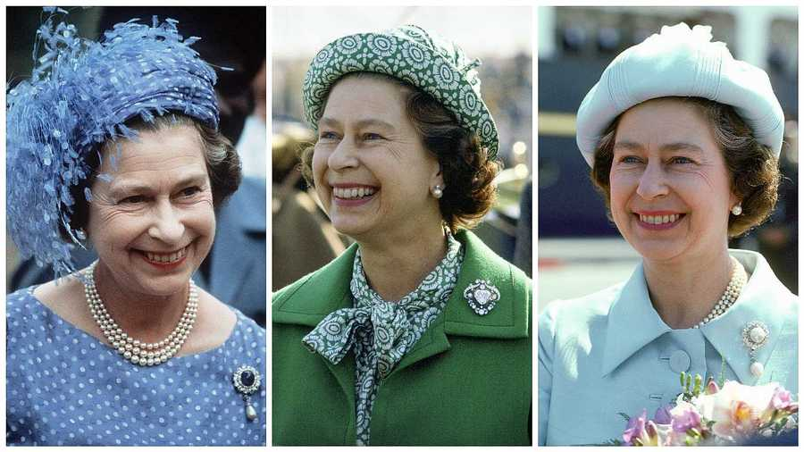 Queen with broaches