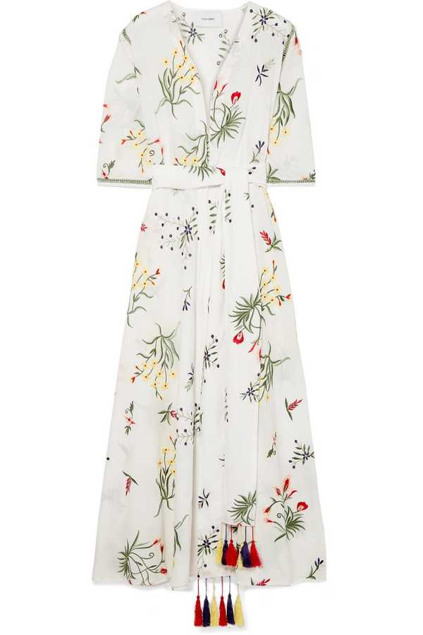 Provence embroidered robe dress by We Are Leone, £440