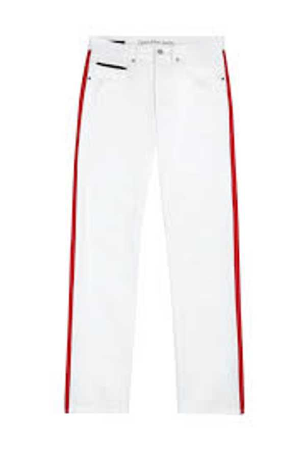 what to wear to work calvin klein white trousers