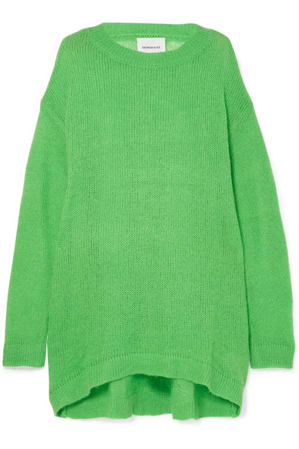 what to wear to work green jumper