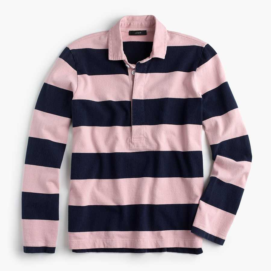 what to wear to work j crew rugby shirt