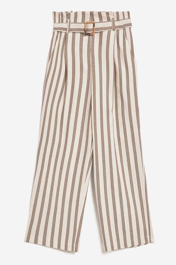 what to wear to work stripe trousers topshop