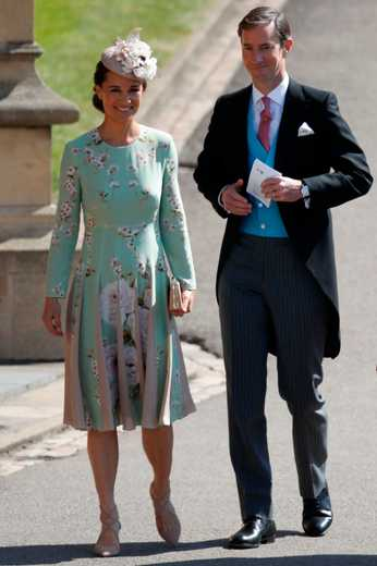 Pippa Middleton Chooses A £495 Silk Dress For Harry And Meghan's Wedding