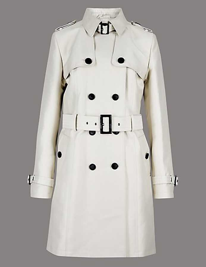 Grazia: luxe highstreet marks and spencer trench