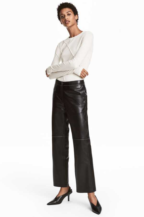 Grazia: luxe highstreet Hm leather trousers