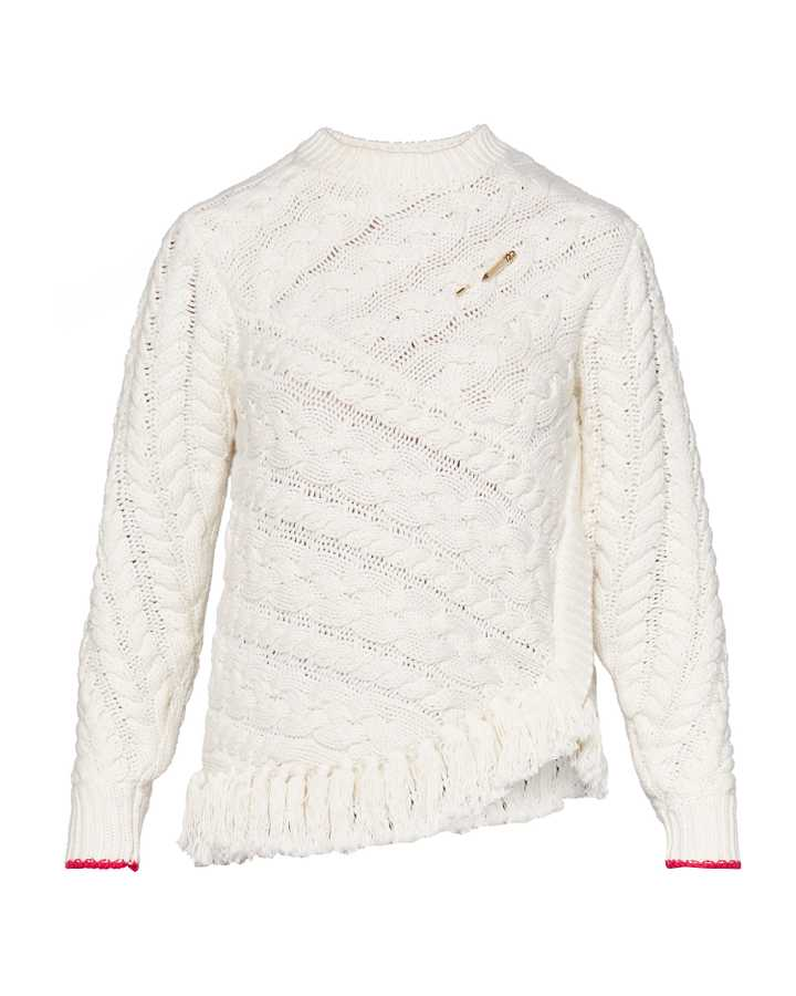 Ted Baker,  Jeaia Fringed Cable Knit Jumper, £139