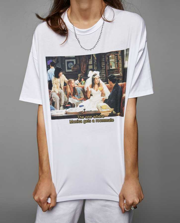 Grazia Zara Friends T Shirt White