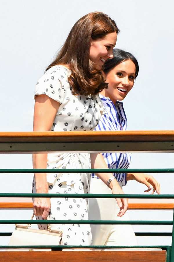 kate middleton meghan markle wimbledon final