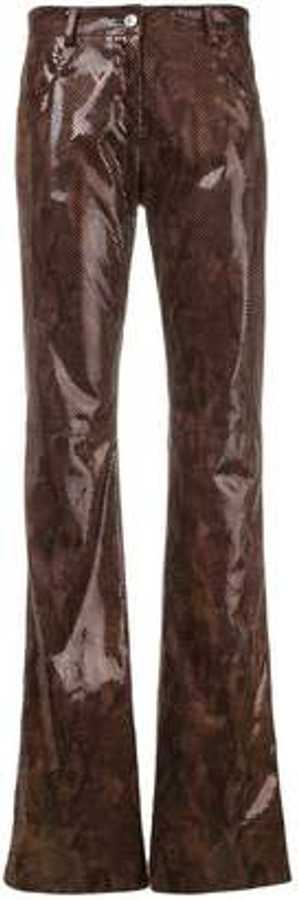 MGSN, Snakeskin Effect Trousers, £315, Farfetch