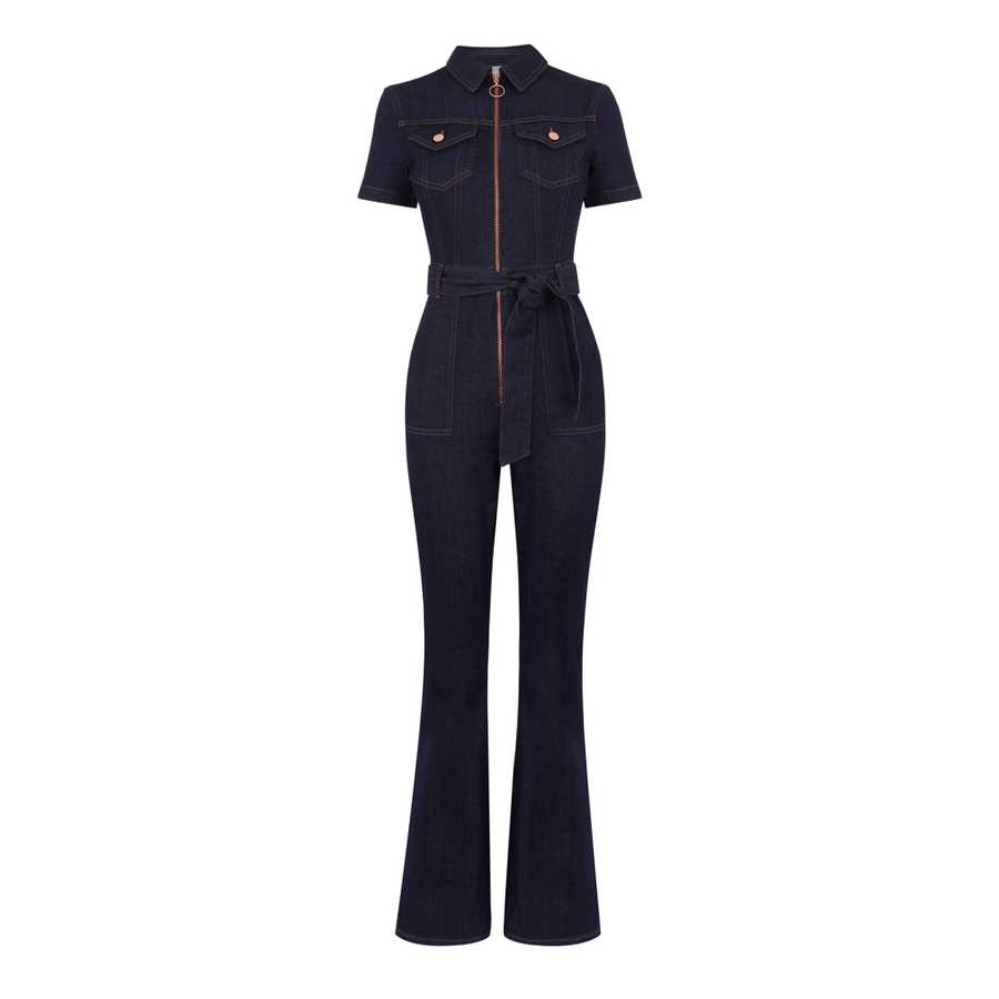 Warehouse, Zip Belted Denim Jumpsuit, £79