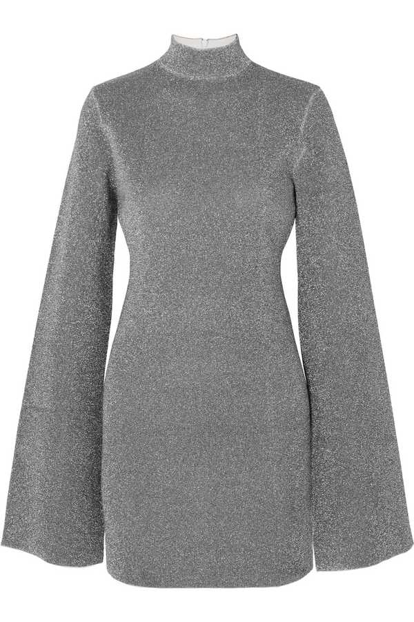 Solace London, Alula Stretch-Lurex Turtleneck Mini Dress, £450, Net-A-Porter