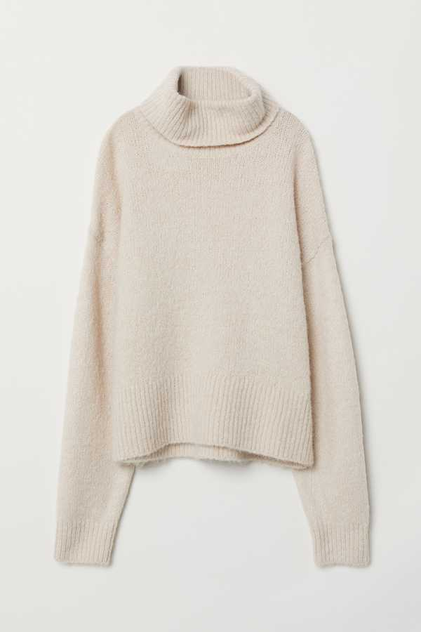 H&M, Knitted Polo-Neck Jumper, £24.99