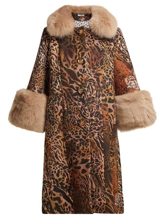 Saks Potts, Yvonne Leopard Print Wool Coat, £1108, Matchesfashion.com