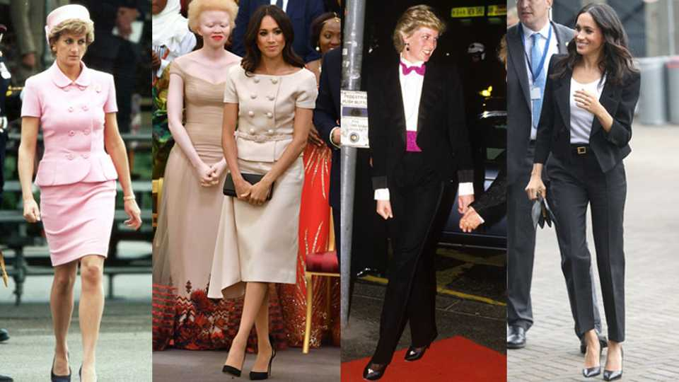 We Have Proof That Meghan's Unofficial Stylist Is Taking Style Advice From Princess Diana