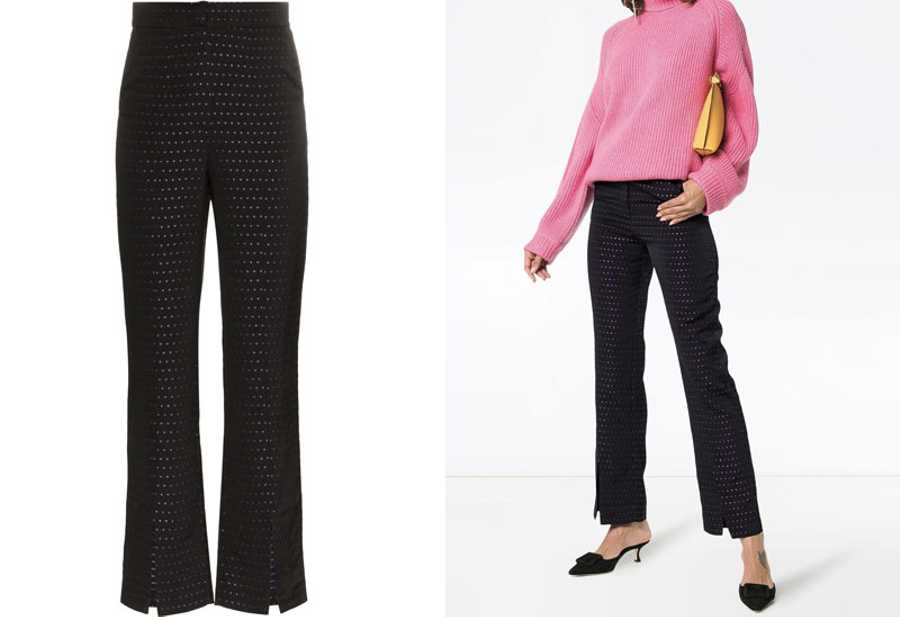 Monday - N Duo, High-Waisted Split Hem Trousers, £390, Farfetch