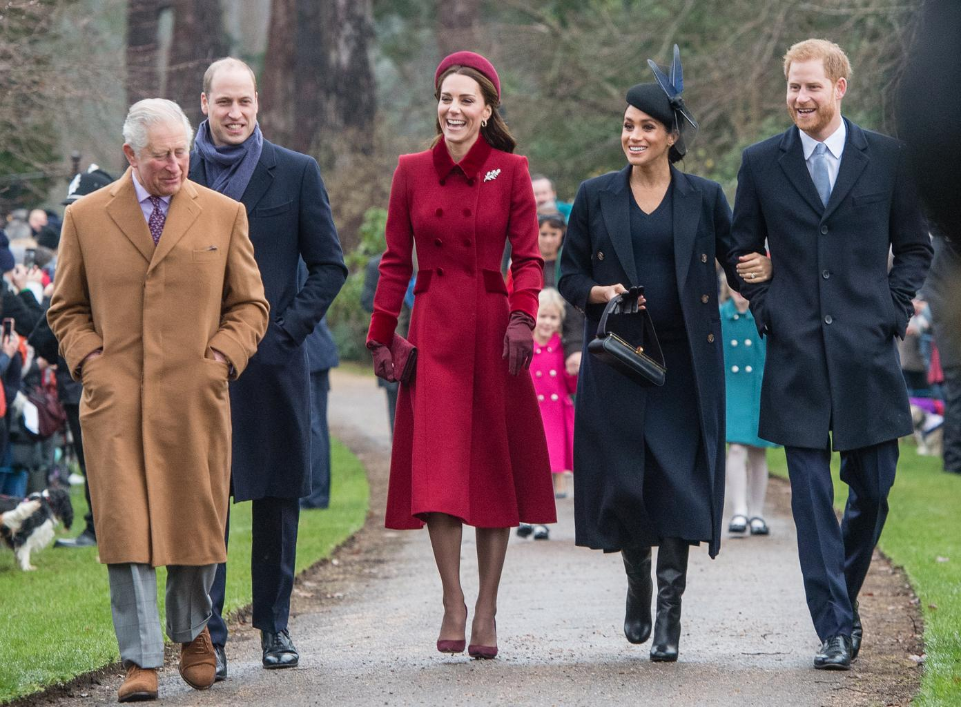 Kate Middleton dresses up for Christmas Day with the royal family