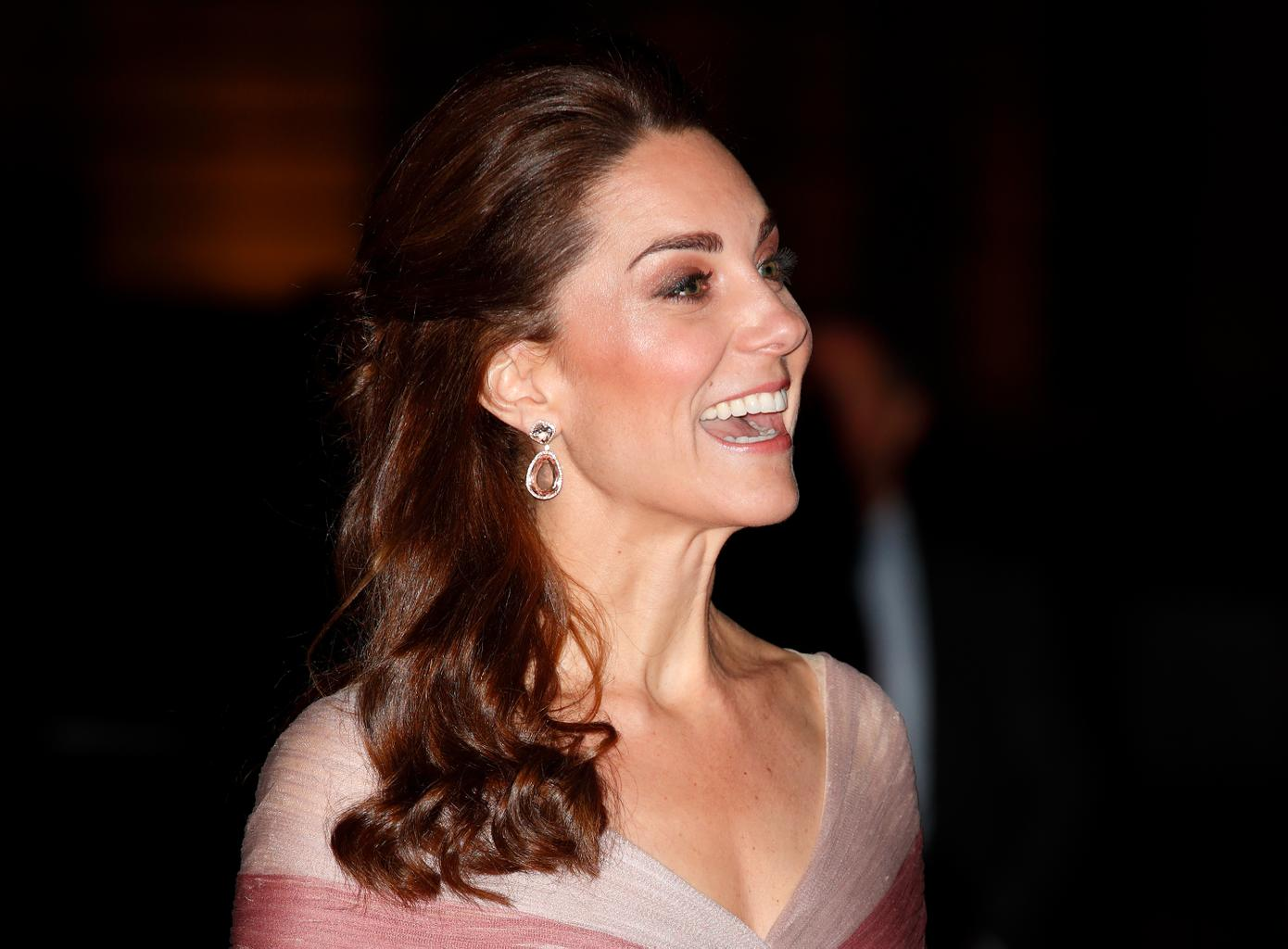 Kate Middleton Stuns In One-Shoulder White Gown At BAFTA Awards